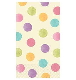 Amscan Soft Watercolor Dots Guest Towels - 16ct.