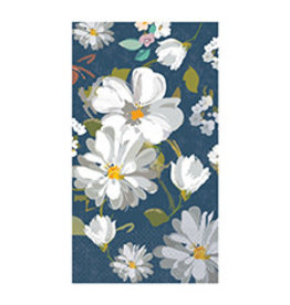 Amscan Navy Daisies Guest Towels - 16ct.