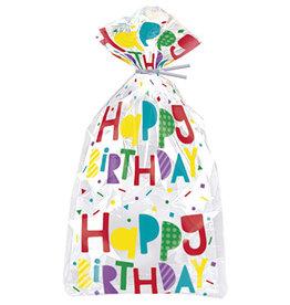 unique Happy Birthday Gift Bags w/ Ties - 20ct.