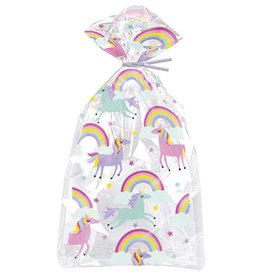 unique Unicorn w/ Rainbows Gift Bags - 20ct.