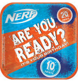 """Amscan Nerf 7"""" Square Plates - 8ct."""