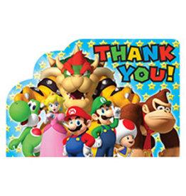 Amscan Super Mario Thank You Cards - 8ct.