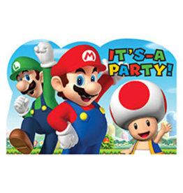 Amscan Super Mario Invites - 8ct.
