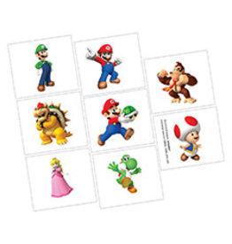 Amscan Super Mario Tattoos - 8ct.