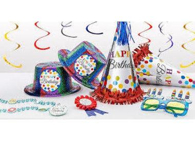 Birthday Hats/Sashes/Beads/Etc.