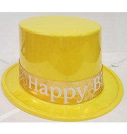 Beistle Yellow Birthday Top Hat