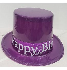 Beistle Purple Birthday Top Hat