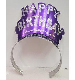 Beistle Purple Birthday Glitter Tiara