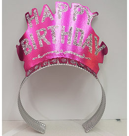 Beistle Pink Birthday Glitter Tiara
