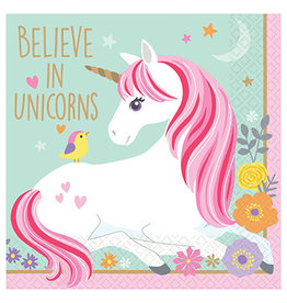 Amscan Magical Unicorn Bev. Napkins - 16ct.