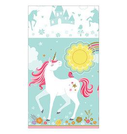 "Amscan Magical Unicorn Tablecover 54"" x 96"""