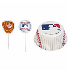 Amscan MLB Cupcake Cases and Picks - 24ct.