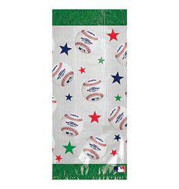 Amscan MLB Cello Party Bags w/ Ties - 20ct.