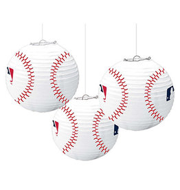 Amscan MLB Baseball Lanterns - 3ct.