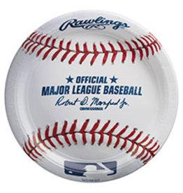 "Amscan MLB Rawlings 9"" Plates - 8ct."