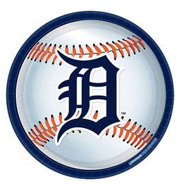 "Amscan Detroit Tigers 9"" Plates - 8ct."