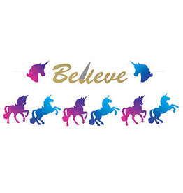 Beistle Unicorn Glitter Streamer Set