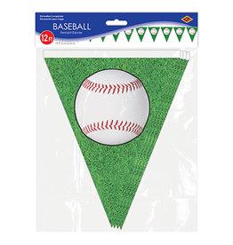Beistle Baseball Pennant Banner - 12ft.