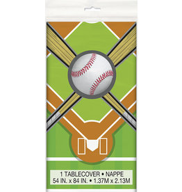 "unique Baseball Tablecover 54"" x 84"""