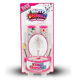 Just For Laughs Pink Party Popper Cake Topper - 2ct