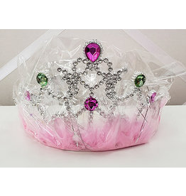 Pink Princess Tiara w/ Jewels - 1ct.