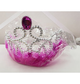 Hot Pink Princess Tiara w/ Jewel - 1ct.