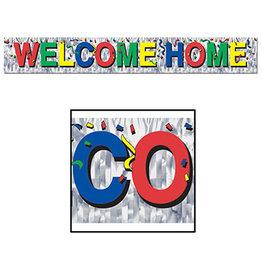 Beistle Metallic Welcome Home Fringe Banner