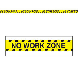 Beistle No Work Zone Party Tape