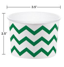 creative converting Green Chevron Treat Cups - 6ct.