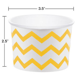 creative converting Yellow Chevron Cups - 6ct.