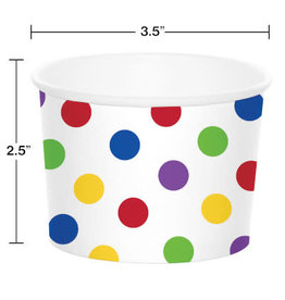 creative converting Multi-Color Dots Treat Cups - 6ct.