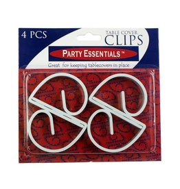 northwest White Table Cover Clips - 4ct.