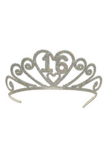 Beistle '16' Glittered Tiara w/ Combs
