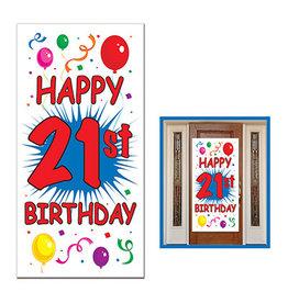 """Beistle 21st Birthday Door Cover - 30"""" x 5ft."""