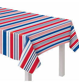 "Amscan Fabric Patriotic Tablecover 60"" x 84"""