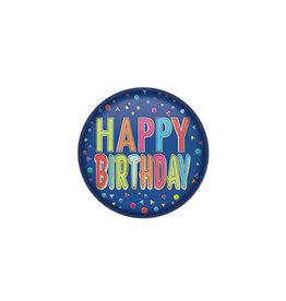 Beistle Happy Birthday Blue Button