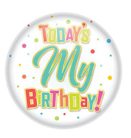 Beistle Today is My Birthday! Button