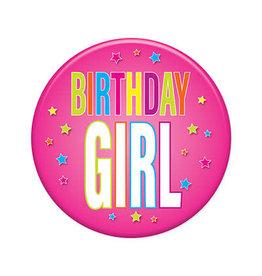 Beistle Birthday Girl Button