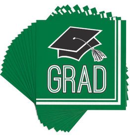 creative converting Green Grad Lunch Napkins - 36ct.