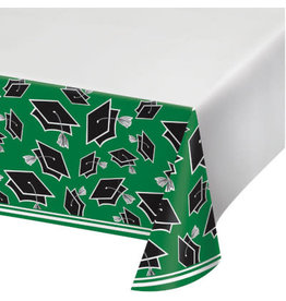 "creative converting Green Grad Tablecover 54"" x 108"""