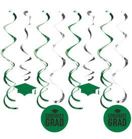 creative converting Green Grad Dizzy Danglers - 8ct.
