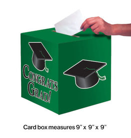"creative converting Green Congrats Grad Card Box 9"" x 9"""