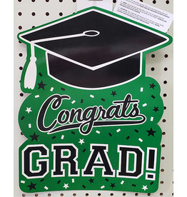 Amscan Green Congrats Grad Cutout - 1ct.