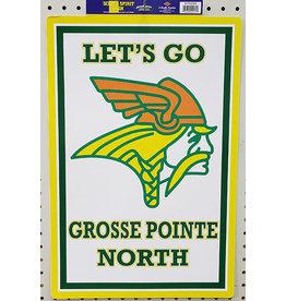 Beistle Grosse Pointe North School Spirit Sign - 1ct.