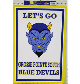 Beistle Grosse Pointe South School Spirit Sign - 1ct.