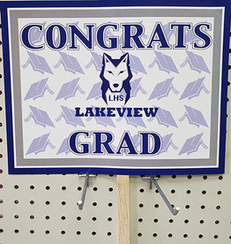 Beistle Lakeview High School Lawn Sign