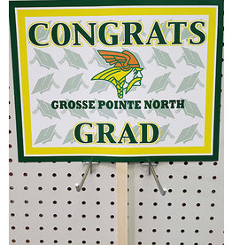 Beistle Grosse Pointe North Grad Lawn Sign