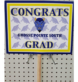 Beistle Grosse Pointe South Grad Lawn Sign
