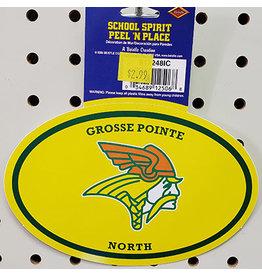 Beistle Grosse Pointe North Peel N' Stick Sticker - 1ct.