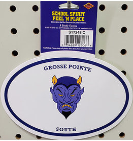Beistle Grosse Pointe South Peel N' Stick Sticker - 1ct.